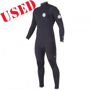 USED Rip Curl Flash Bomb 2/2 Zip Free Wetsuit - Size M
