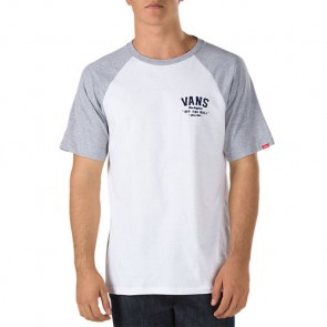 Vans Flockup Raglan T-Shirt - White/Athletic Heather