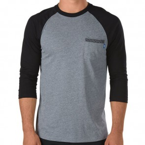 Vans Sapling Baseball Shirt - Heather Grey/Black
