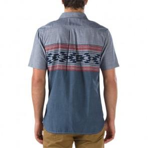 Vans Merced Short Sleeve Shirt - Blue/Native Stripe