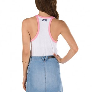 Vans Women's Take It Easy Tank - White/Geranium Pink
