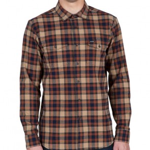 Volcom Martens Long Sleeve Flannel - Gravel