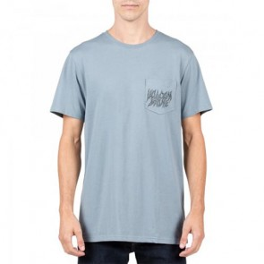 Volcom Creeper Pocket T-Shirt - Ash Blue
