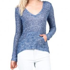 Volcom Women's Ready To Go V-Neck Sweater - Navy