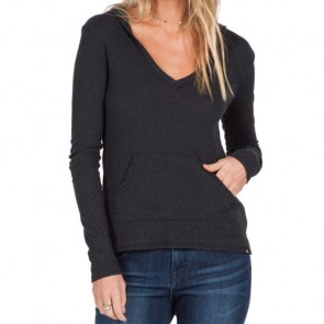 Volcom Women's Lived In Go Hooded Top - Black Combo