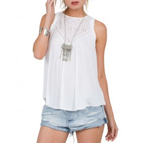 Volcom Women's Sunset Path Tank - White