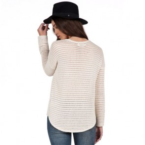 Volcom Women's Hold On Tight Sweater - Vintage White