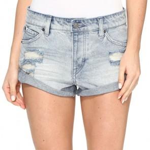 Volcom Women's Stoned Short Rolled Shorts - Cloud Blue