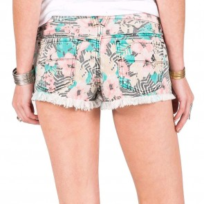 Volcom Women's Yae Cut Off Shorts - Electric Coral
