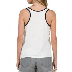 Volcom Women's Speed Up Ringer Tank - Vintage White