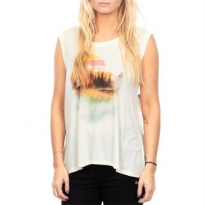 Volcom Women's Peaced Out Muscle Tank - Frozen Bone