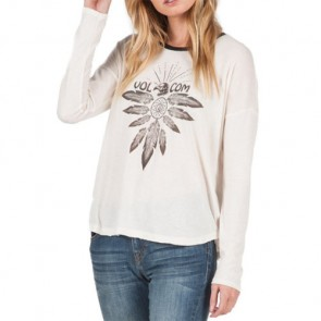 Volcom Women's Goodside Long Sleeve Top - Vintage White