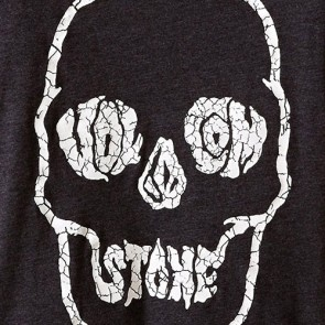 Volcom Youth Tuff Skull T-Shirt - Heather Black