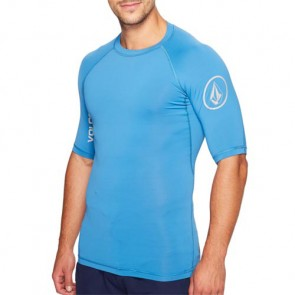Volcom Lido Solid Short Sleeve Rash Guard - Deep Water