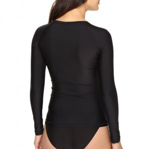 Volcom Women's Simply Solid Long Sleeve Rash Guard - Black