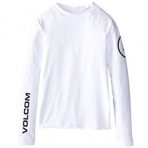 Volcom Toddler Solid Long Sleeve Rash Guard - White