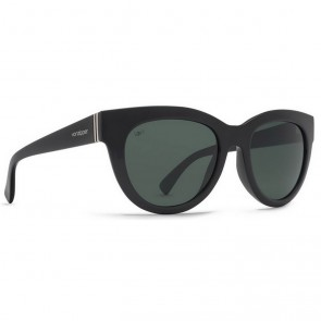 Von Zipper Women's Queenie Polarized Sunglasses - Black Gloss/Grey Poly