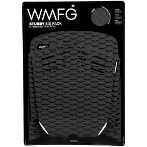 WMFG Stubby Six Pack Kiteboard Deck Pad - Black/White