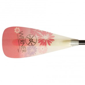 Werner Paddles - Carve Small 2pc SUP Paddle - Floral Magenta