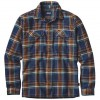 Patagonia Fjord Long Sleeve Flannel - Blue Ox/Navy Blue