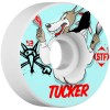 Bones 53mm STF Pro Tucker Wolfpack Wheels - White