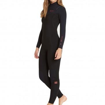 Billabong Women's Furnace Carbon 4/3 Chest Zip Wetsuit - Black