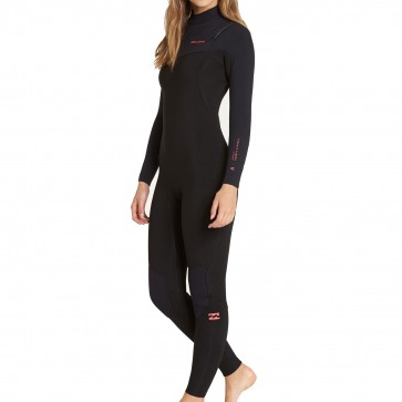 Billabong Women's Furnace Carbon 3/2 Chest Zip Wetsuit - Black