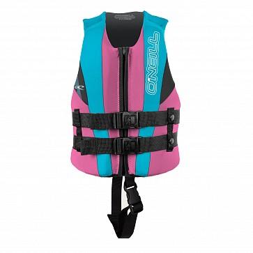 O'Neill Child Reactor USCG PFD Vest - Petrol/Turquoise/Pink