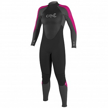 O'Neill Women's Epic 4/3 Back Zip Wetsuit - Black/Graphite/Berry