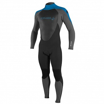 O'Neill Youth Epic 4/3 Back Zip Wetsuit - Black/Smoke/Ocean