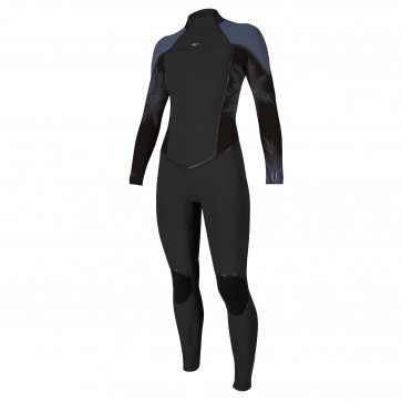 O'Neill Women's Psycho I 4/3 Back Zip Wetsuit - Black/Harbor Mist