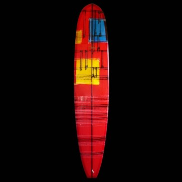 Bing Surfboards - 9'4 Zeph Indy Noserider - Red/Black Resin