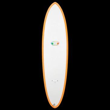 Epoxy Flyer Surfboards - 6'8'' Donald Takayama Flo Egg - Grey/Orange