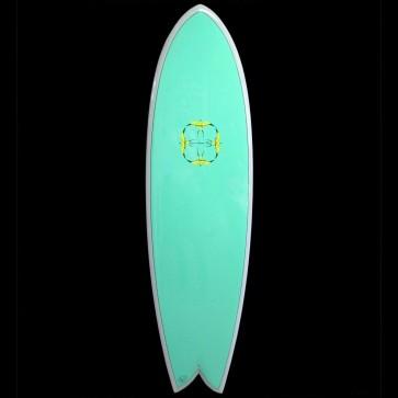 Epoxy Flyer Surfboards - 6'8'' Donald Takayama Humu Humu - Grey/Green