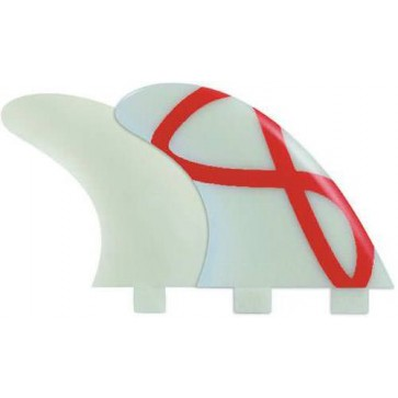 FCS Fins - M3 GF Quad G1000 - Glass/Red