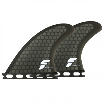 Futures Fins - QD2 4.15'' Quad Rears - Smoke