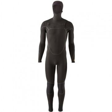 Patagonia R3 Yulex 4.5/3.5 Hooded Chest Zip Wetsuit - Black