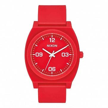 Nixon Women's Time Teller P Corp Watch - Matte Red/White