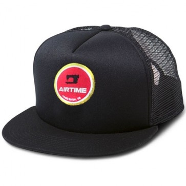 Airtime Retro Round Trucker Hat - Black