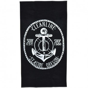 Cleanline Anchor Towel - Black