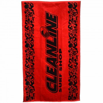 Cleanline Surf Towel - Red/Black