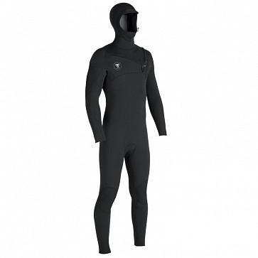 Vissla Seven Seas 4/3 Hooded Chest Zip Wetsuit - Black/Jade