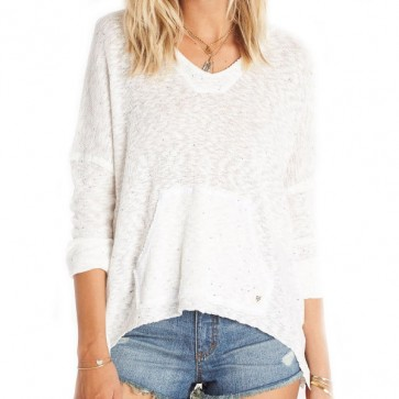 Billabong Women's Beach Bliss Hooded Sweater - White Cap