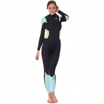 Billabong Women's Synergy 3/2 Chest Zip Wetsuit - Ice
