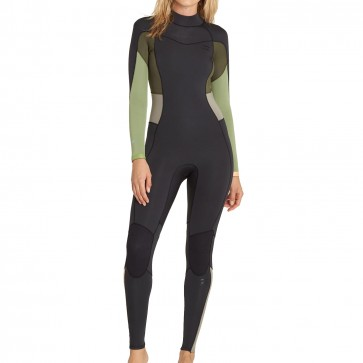 Billabong Women's Synergy 3/2 Back Zip Wetsuit - Green Tea