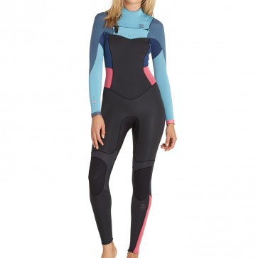 Billabong Women's Synergy 3/2 Chest Zip Wetsuit - Agave