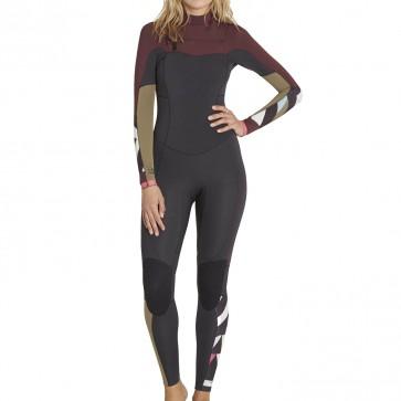 Billabong Women's Salty Dayz 4/3 Chest Zip Wetsuit - Mulberry