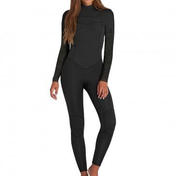 Billabong Women's Synergy 3/2 Chest Zip Wetsuit - Black
