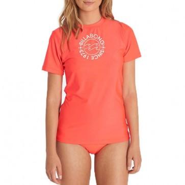 Billabong Women's Core Short Sleeve Rash Guard - Horizon