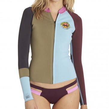 Billabong Wetsuits Women's Peeky 1mm Long Sleeve Jacket - Moss